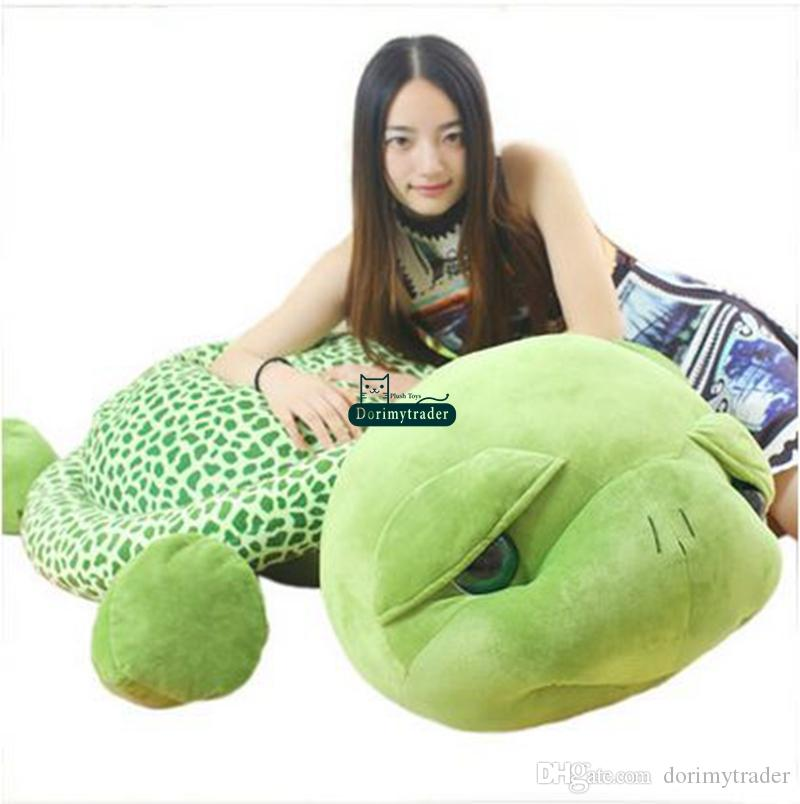 Dorimytrader 59'' / 150cm Lovely Stuffed Soft Giant Animal Tortoise Turtle Toy Birthday Gift for Babies Free Shipping DY60662