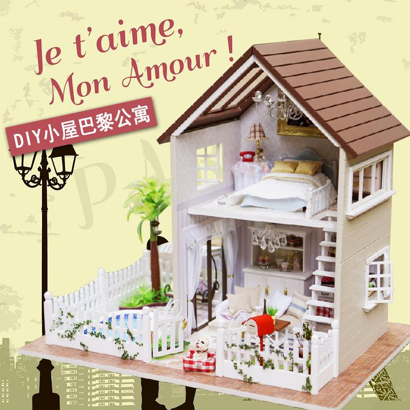 Wholesale Diy Cottage Paris Apartment Handmade Birthday Gift Assembled Toys  Creative House Model Villa Diy Doll. Wholesale Barbie Dolls Cottage