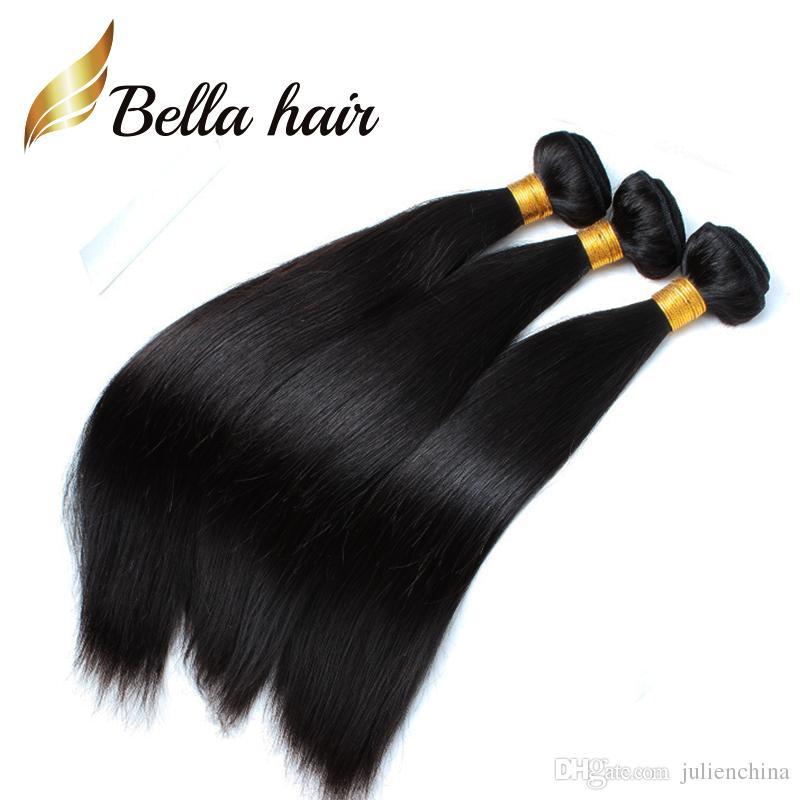 (미국에만 해당) 가장 저렴한 브레이드 기증자 머리카락 100 인도 인간의 머리카락 확장 12-14-16-18-20-22-24 흑인 여성용 벨라 헤어 3 / 4 / 5pcs 로트 당