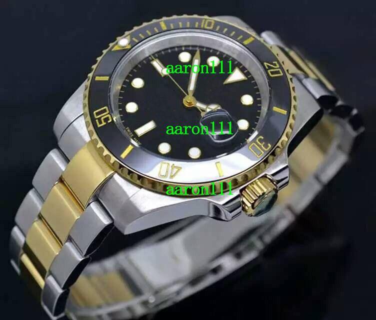 Marca de moda Aço Inoxidável Swiss ETA 2836-2 Movimento 116660 Relógio Mecânico Resistente Dial Preto Cerâmica Mens Relógios Automáticos para Homens