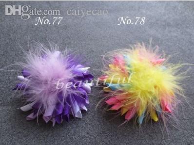 """All'ingrosso-Feather Corker Spedizione gratuita Boutique Boutique 20pz Set 3.5 """"Grosgrain Ribbon Korker Hair Bow Clip - Taglia unica"""