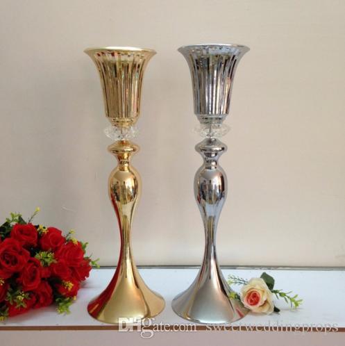 """55 cm 21 """"Şerit veya Altın düğün yol kurşun dekorasyon Masa Avize Düğün çiçek vazo Düğün centerpiece 10 adet / grup"""