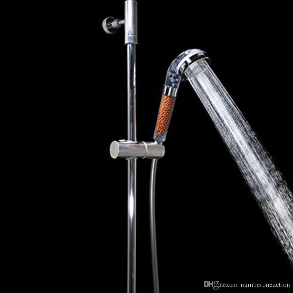 4in1 게르마늄, FIR, ION 저수지 샤워 헤드 필터 Water Ionizer는 염소계 Good 스테인레스 스틸 방폭형 샤워 호스를 제거합니다.