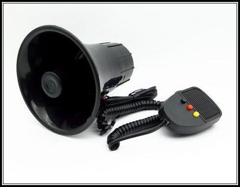 Alta prestazione DC12V, avvisatore acustico a 3 toni 30W per auto / moto amplificatore alam per clacson per polizia, vigili del fuoco e ambulanza