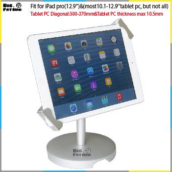 "Universal Tablet Holder Mount tablet lock stand tablet pc stand 12.9"" aluminum desk holder stand for samsung surface 360 Degree Rotation"