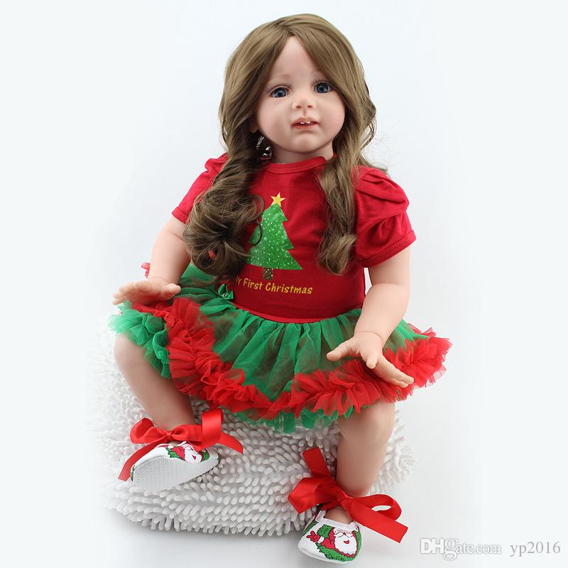 "Reborn Toddler Doll 24/"" Realistic Handmade Lifelike Girl Presents Xmas Gifts US"