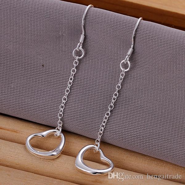 10Pairs / LotFree trasporto del commercio all'ingrosso dell'argento sterlina 925 ha placcato i monili degli orecchini delle donne di modo per i regali E086