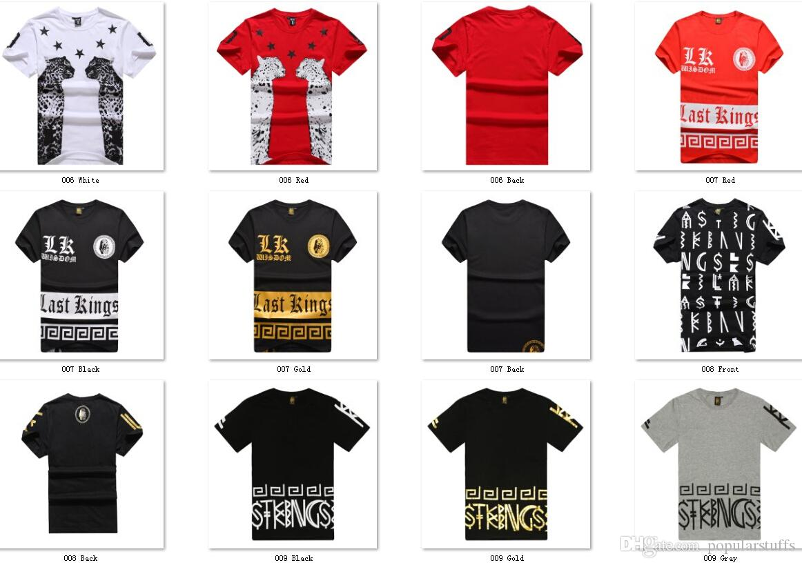 Last Kings Men S Quality Swag Cotton T Shirts Gold Symbol Print At Lestyleparfait For Only 29 00 Usd