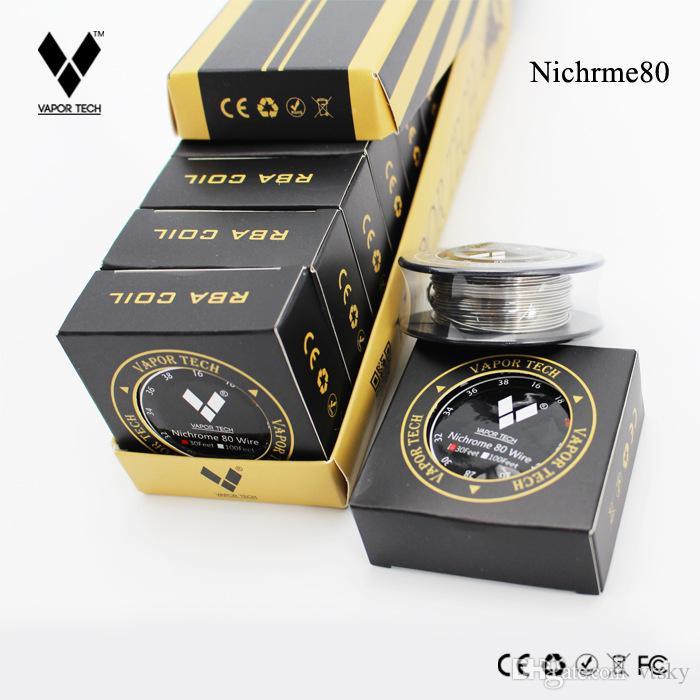 Nuovo VAPOR TECH Nichrome 80 Wire 30 Feet NI80 Wire Bobina fai da te per fai da te Ricostruibile Atomizzatore vaporizzatore RDA RBA