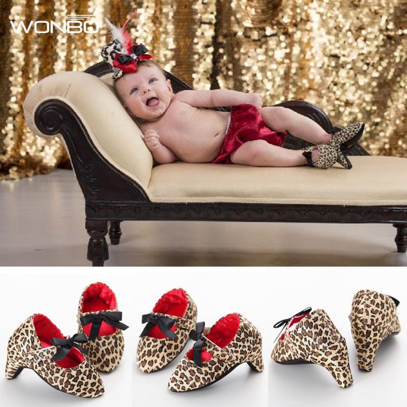 Vente en gros-Nouvelle Mode Sweet Lovey Nouveau-Né Bébé Infant Toddler Filles Princesse Souple Solide Anti-Slip Chaussures Lit Bébé Mary Jane Bow High Heels
