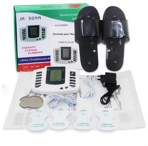 Massager complet Massager soins de santé Stimulateur de muscle électrique Tens Acupuncture Thérapie Therapy Machine 4PCS Pads R309
