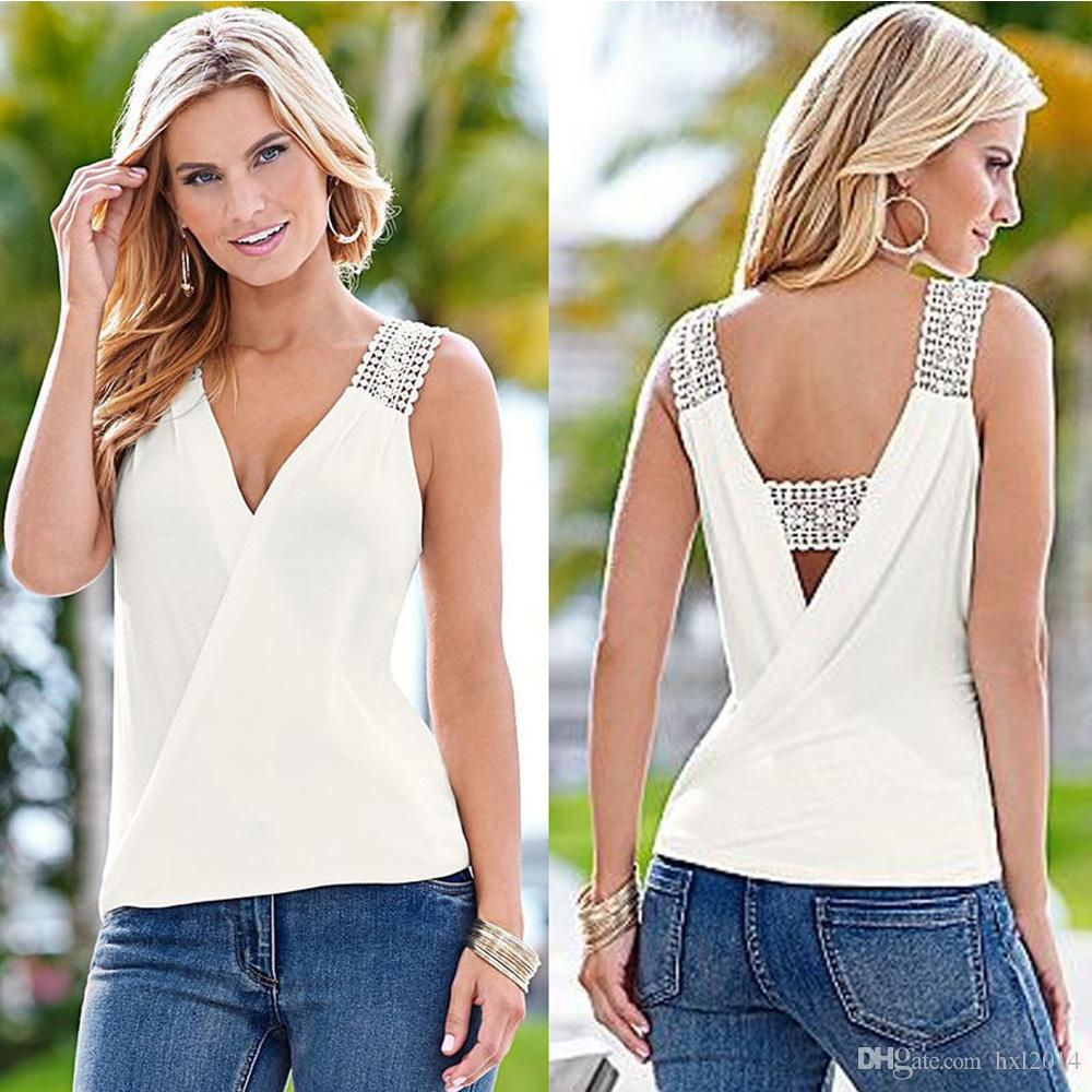 2021 Womens Clothing Summer V Neck Tank Tops Style For Women Stringer Tees Tanks  Camis Womens Tank Top Shirts Camisole Crop Top Wholesale From Hxl2014,  $44.72   DHgate.Com