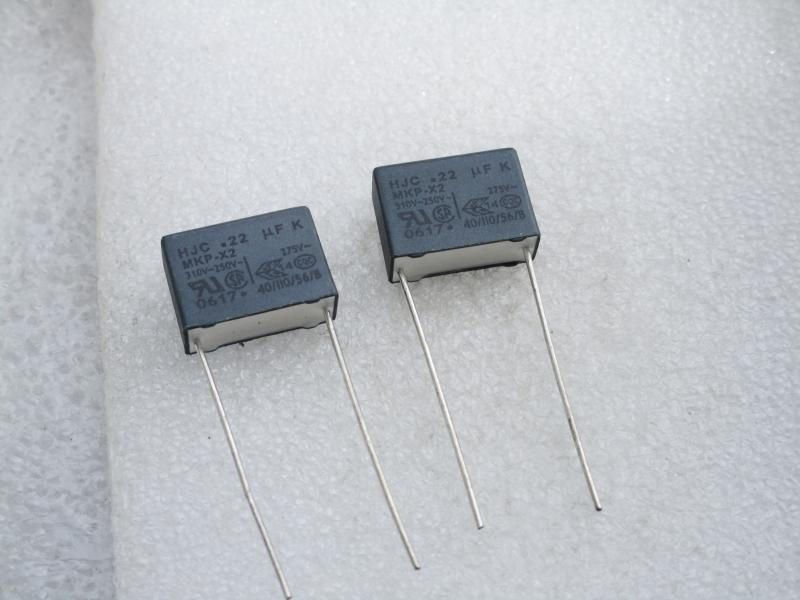 Taiwan genuíno HJC Segurança X2 capacitor 275VAC 224 0.22UF 220NF pés longe de P15MM