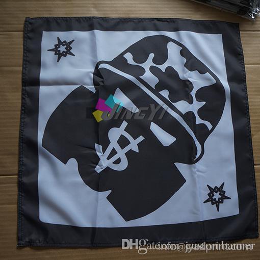 Seu polisseter com Bandanas Impressão 55x55cm Logotipo da empresa (100 pcs), lenços Ivjua