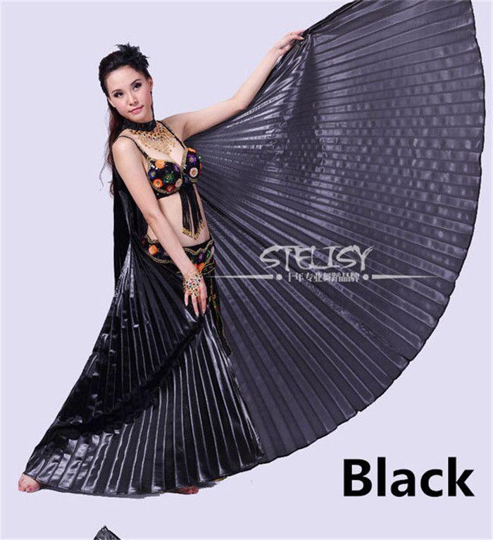 2018 11 colores para las alas de ángulo elegidas Egipcio Egipcio Traje para danza del vientre Isis Wings Accesorios de ropa para bailar (sin palo)