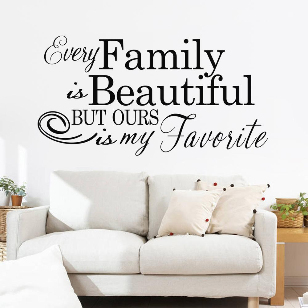 Free Shipping Wall Sticker Family Beautiful Vinyl Wall Decal Home  Decoration Wall Sticker Quotes Home Decor