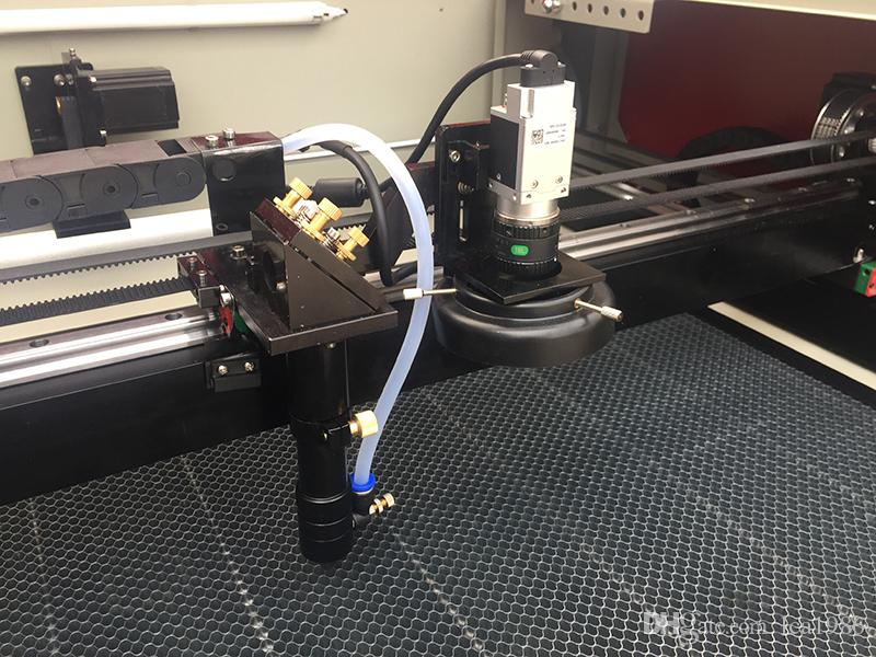9060/80w CCD Camera Scan Co2 Laser Cut Machine .With Honeycomb table Use For Embroider And Textile