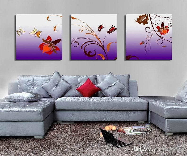 Modern Beautiful Flower Fine Floral Painting Giclee Print On Canvas Home Decor Wall Art Set30336