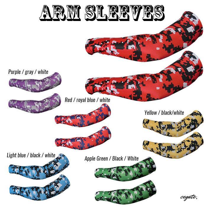 2018 New Compression arm sleeve sport baseball football basketball camouflage arm warmers