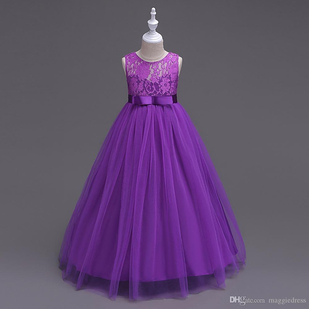 das beste Großhandel Baby Mädchen Partykleid 12 Hochzeit Sleeveless Teenager  Mädchen Kleider Kinder Kleidung Kinder Kleid Kostenloser Versand Von  Maggiedress, Farbe