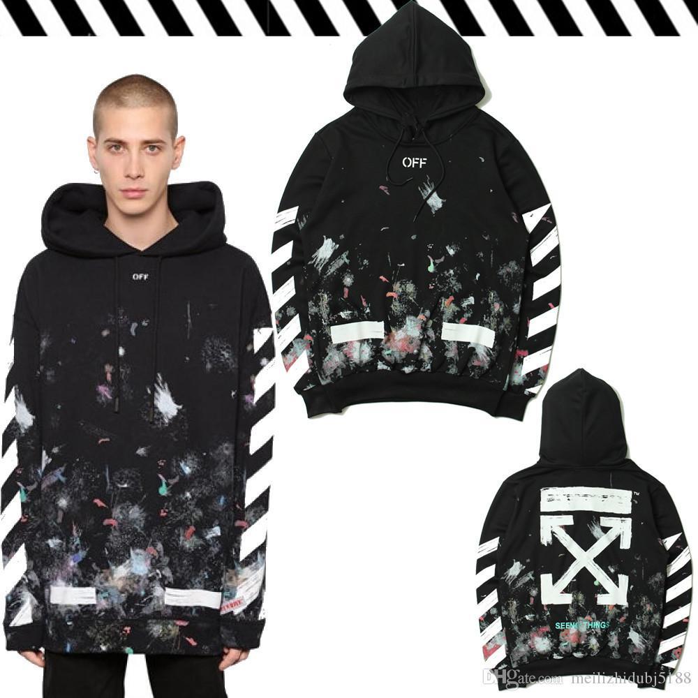Hot! OFF Hoodie Logo Pullover Off White Jacke Firework Arrows Galaxy Sweatshirt