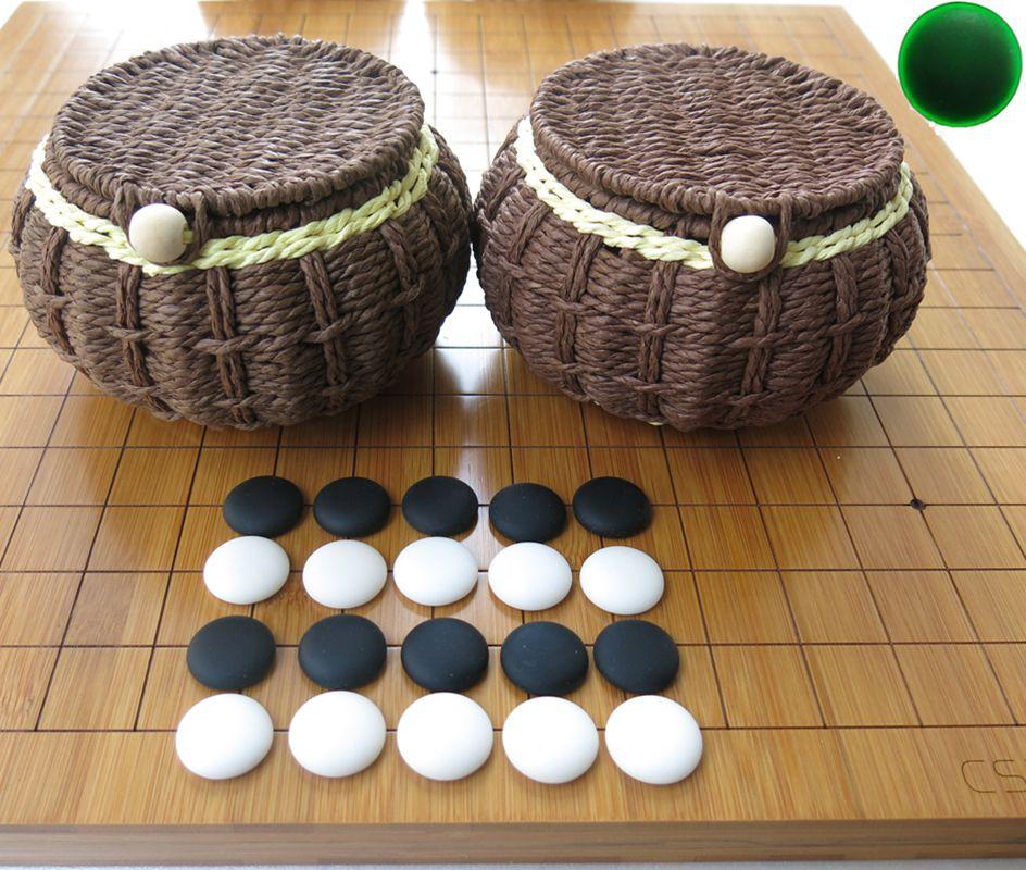 Expédition gratuite Yunnan Yunziweiqi Backgammon Bambambammon 2 cm Épaissement Réticule Double Échecs Chessés Chinese Weiqi Set