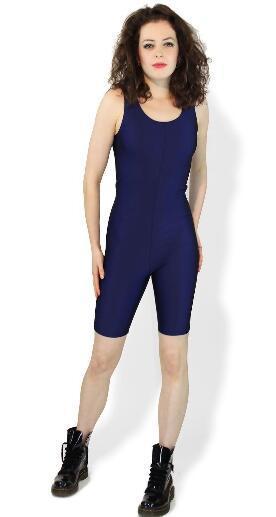 Unitard Cycle Short Gym Running Body Skinsuit Catsuit Senza maniche Lycra Spandex Zentai,