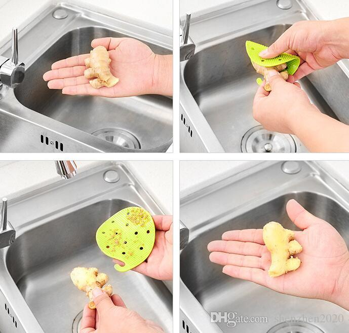 Vegetables Potato Ginger Peeling Carrot Tater Peeler Peeling Kitchen Tool Brush heat insulation High Quality with retail package