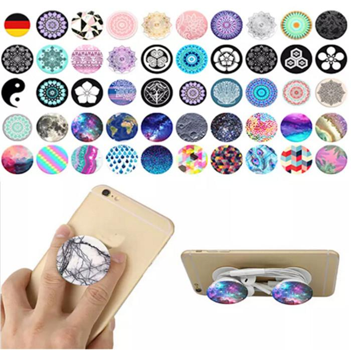 2017 Popular cell Mobile Phone Holder Air bag for Cellphone with retail package Blue packing Real 3M Glue support reusable