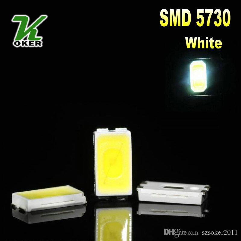 4000pcs / 릴 0.2W SMD 5730 5630 화이트 LED 램프 다이오드 울트라 밝은