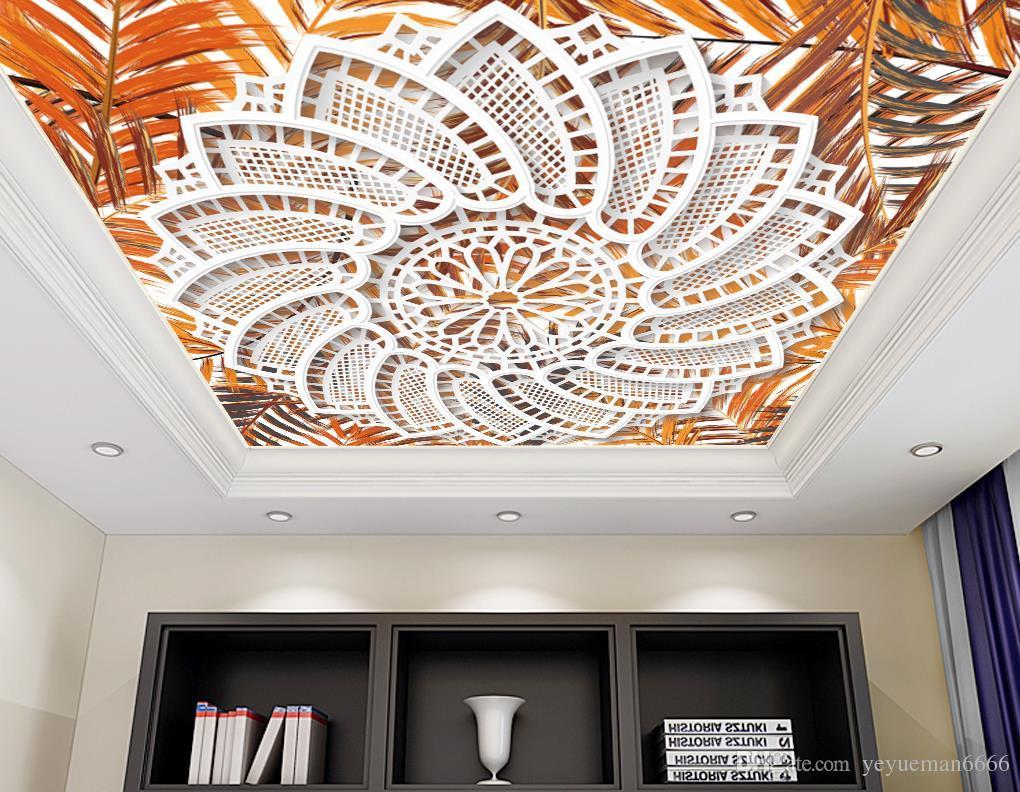 2019 пользовательские 3d потолочный рисунок домашнего декора гостиная спальня картины потолочные 3d обои papel де parede 3 d