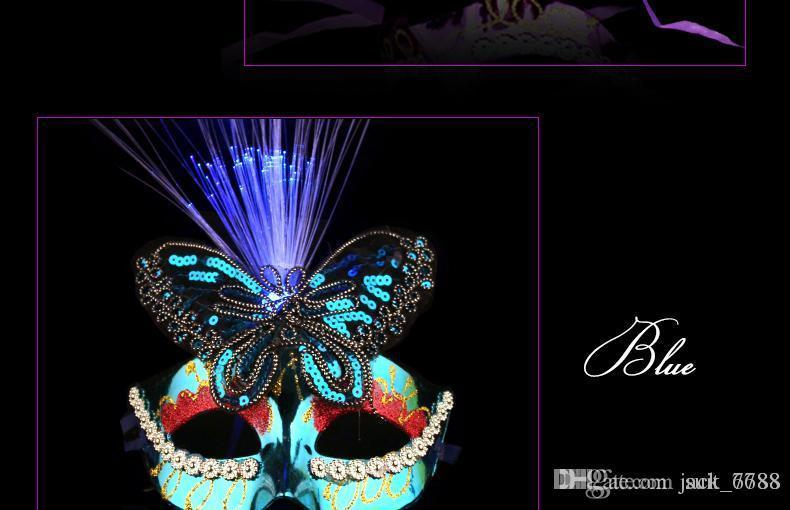 무료 배송 베네치아 반 마스크 얼굴 축제 마스크 여성의 빛나는 나비 댄스 공주 메이크업