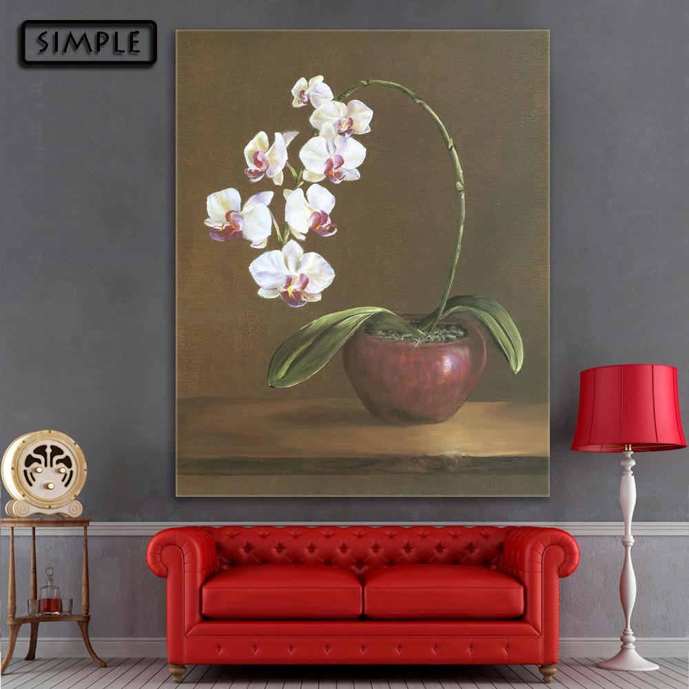 Modern Wall Paintings Living Room 2017 Oil Painting Canvas Flower Pot Wall Art Decoration Home Decor