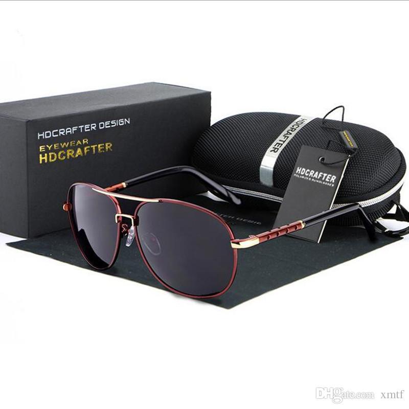 Высокое качество Марка поляризованные линзы солнцезащитные очки для мужчин большой кадр черный вождения очки Спорт солнцезащитные очки Oculos De Sol с оригинальной коробке