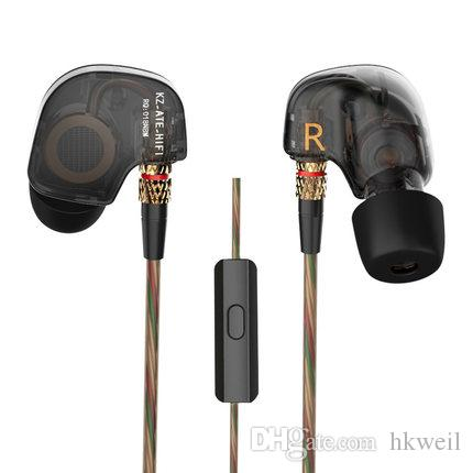 KZ ATE Headphones with Heavy Bass and Noise Isolating Sports Music Headsets High Sensitivity HD Earphones