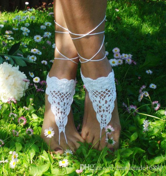 Crochet Barefoot Sandals, Beach Shoes, Wedding Accessory, Nude Shoes, Bridal shoes, Accessories For Women sandals