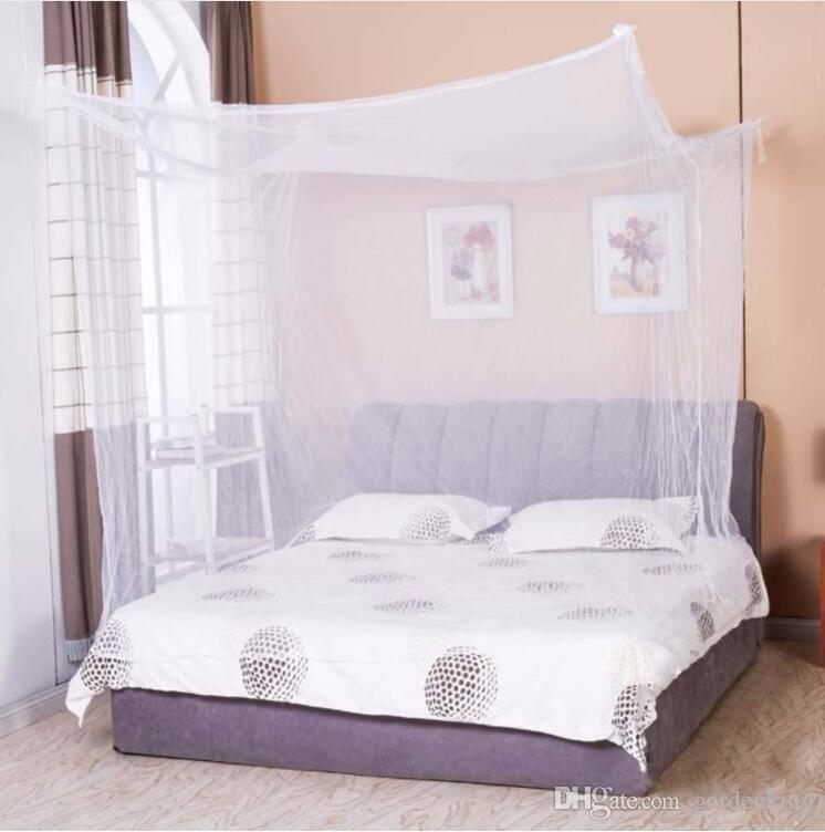 Moustiquaire 1шт белый балдахин с балдахином студент кровать с балдахином противомоскитная сетка королева король двухместный