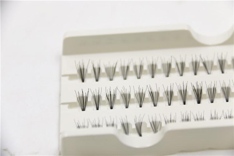 False Eyelashes Natural Individual Lashes Extension Handmade Professional Eyes Makeup Cosmetic Fake Eyelashes Flare Black 10mm Free Ship DHL