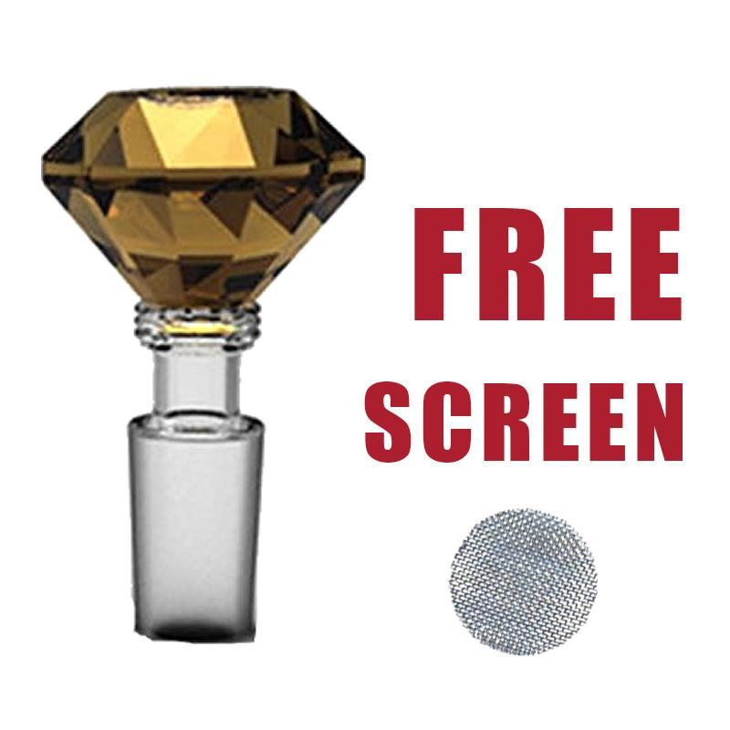 14mm Glas Diamond Bowl Kraut Halter Mixed Color 5 Free Screens Kostenloser Versand