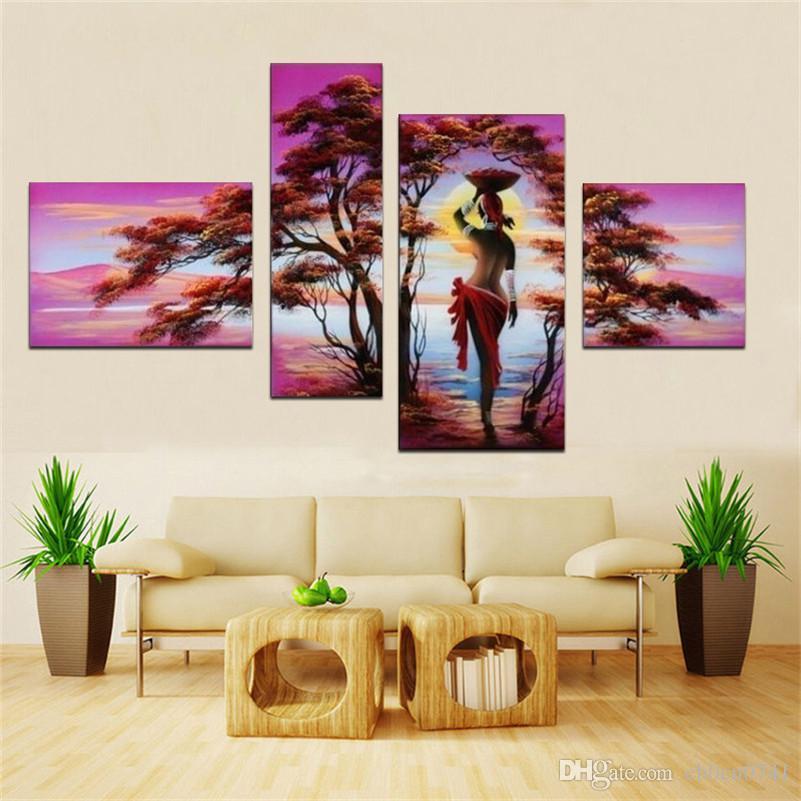 100% reine Handgemalte Ölgemälde Leinwand Nude Malerei Dekoration Wand Abstrakte Kunst Bild 4 buchstabieren