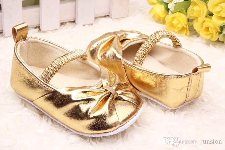 golden shoes for baby girl