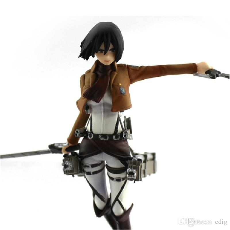 "4.7 ""Shingeki No Kyojin Attack On Titan Mikasa Ackerman PVC Figure Doll Gift"