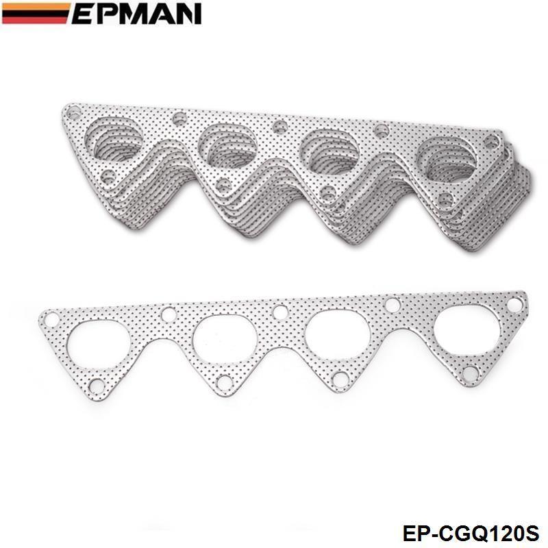 EPMAN-10PCS / LOTE Desempenho Junta De Alumínio Escape Header Para Honda Integra Civic Crx B16 B16A B18 EP-CGQ120S