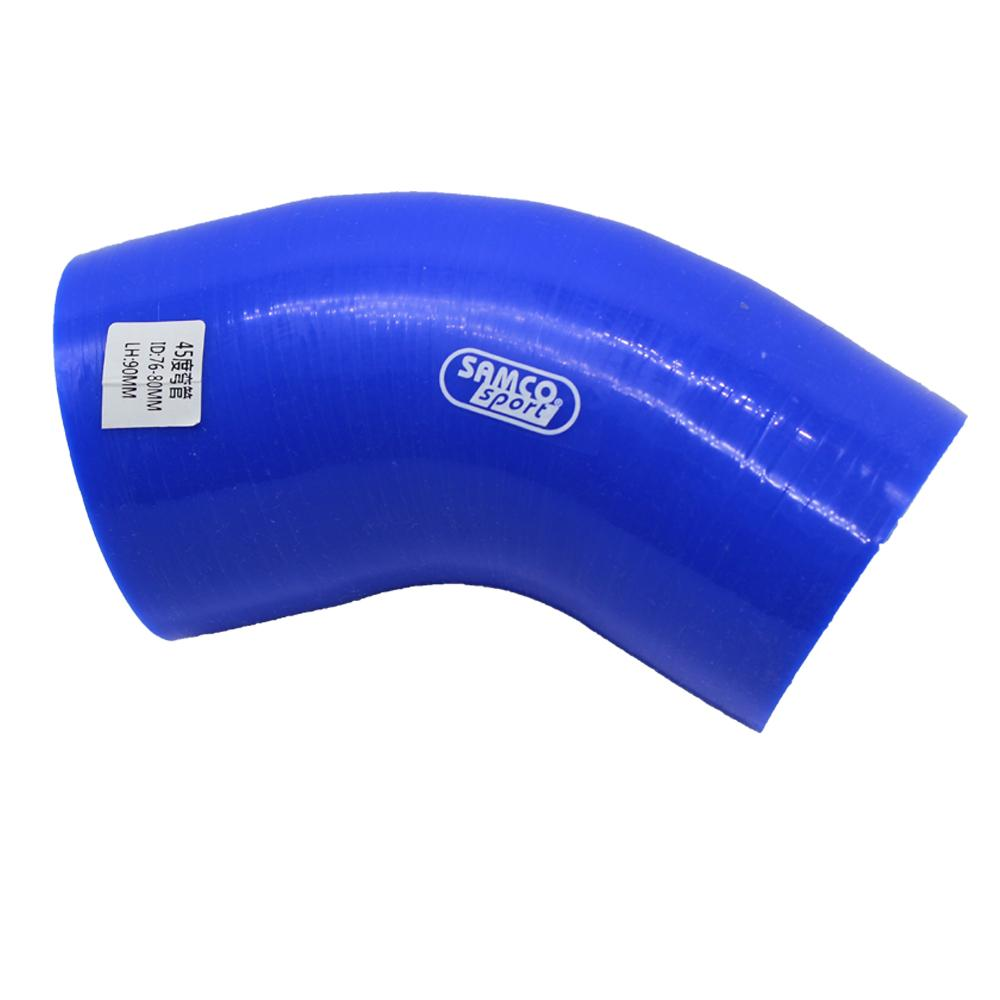 """3/""""  ID76 mm Straight Silicone Coupler Hose Intercooler Pipe Turbo Hose"""