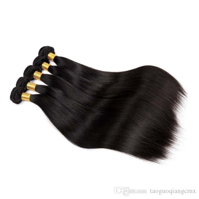 Brazilian Virgin Hair Straight Unprocess 8A Peruvian 8-26inches Indin remy hair weft extensions Natural Color 1pc Russian human hair