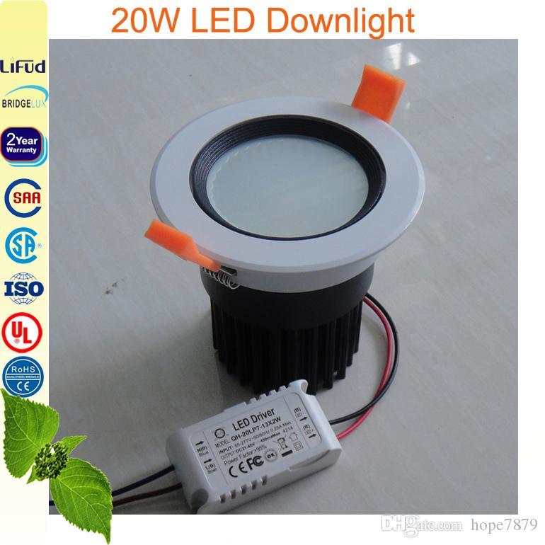 20W крытый светильники утопленный потолка свет круглый панель лампа высокая люмен COB чип гарантированность 2years