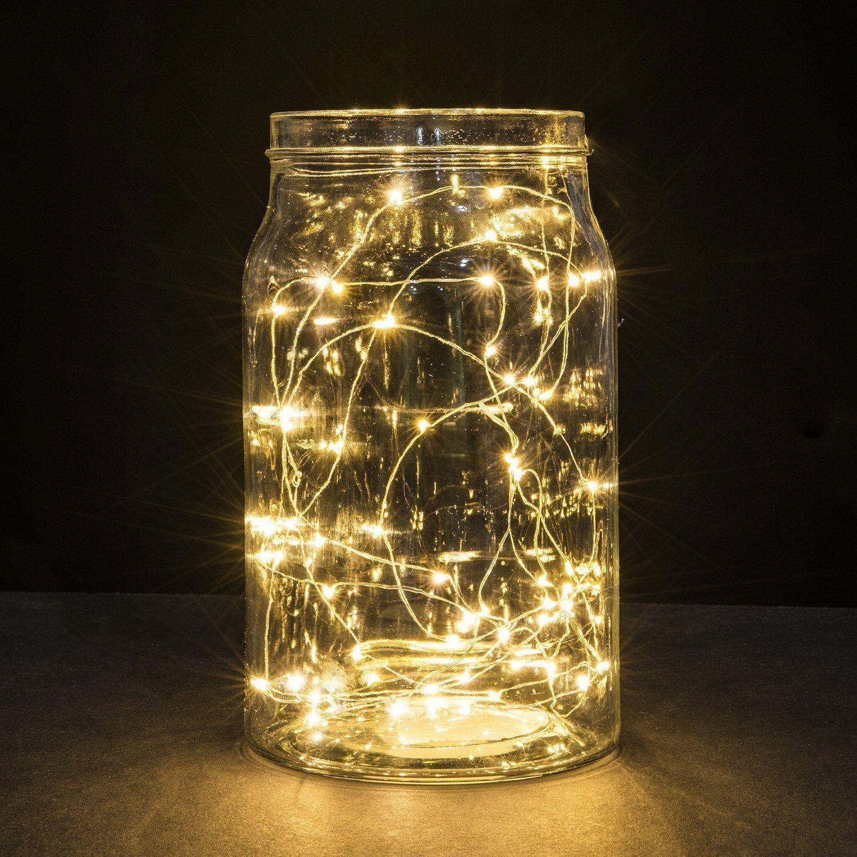 Творческий теплый белый водонепроницаемый 3 м 30 Led медная проволока строка свет Фея лампа для Рождества свадебные украшения С 200 шт.