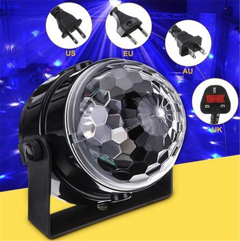 LED 무대 조명 미니 RGB 프로젝터 크리스탈 매직 볼 무대 조명 효과 램프 DJ 클럽 라이트 바 파티 디스코 장식