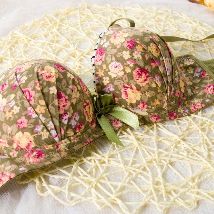 Wholesale-High quality Women Seamless Underwear Modal Comfortable Lovely Bra Set Floral Bra Brief Sets Sexy Bra + Panties
