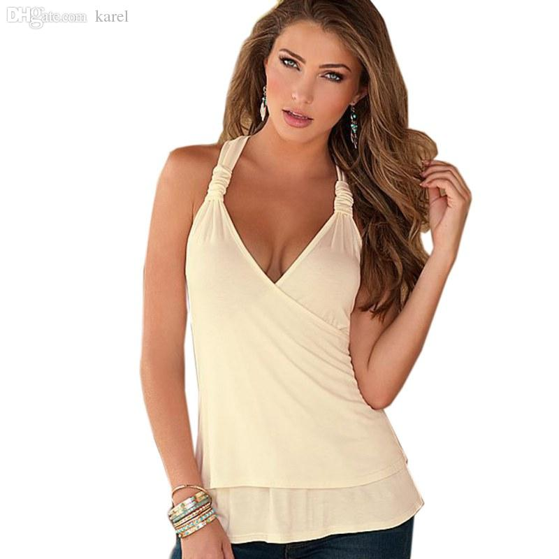 Wholesale-2016 Summer New Fashion Womens Tank top Sexy Lace Tops Crochet Back Hollow-out Women Vest Camisole Lace Black White Vest